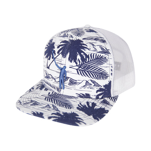 NLU Tropical Puff Hat | Blue & White
