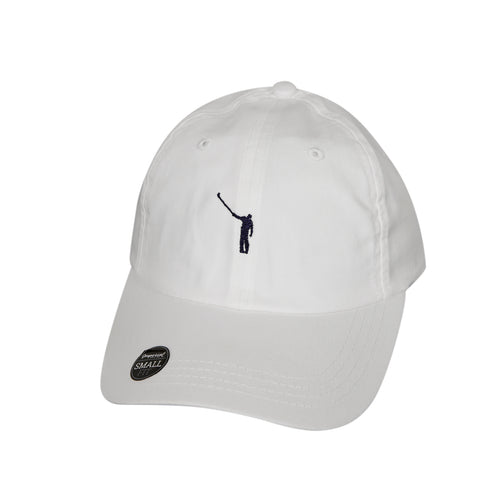No Laying Up Ladies Logo Hat | White w/ Navy Logo
