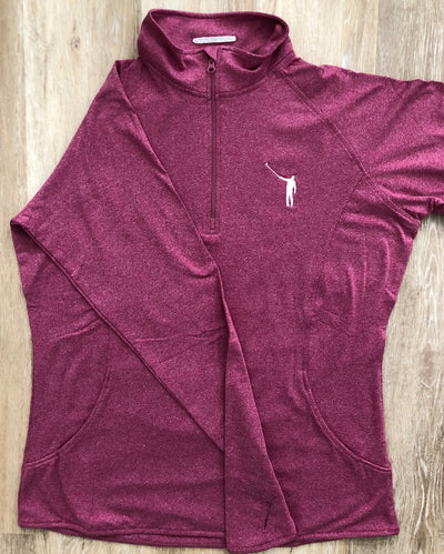 NLU Ladies Performance Pullover | Heather Pink