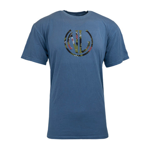 Floral NLU Monogram T-Shirt | Blue