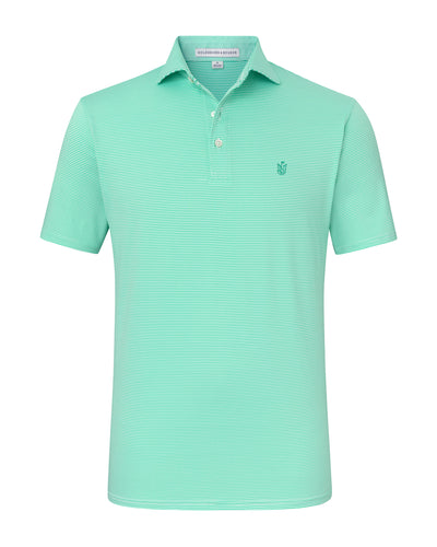 NLU Monogram Polo | Mint & White