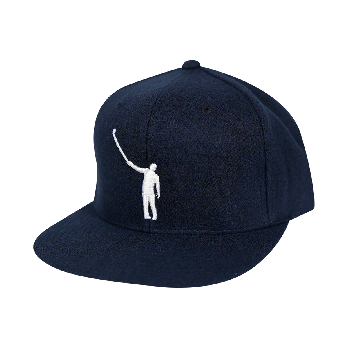 The Wayward Puff Hat | Wool Navy with White Logo