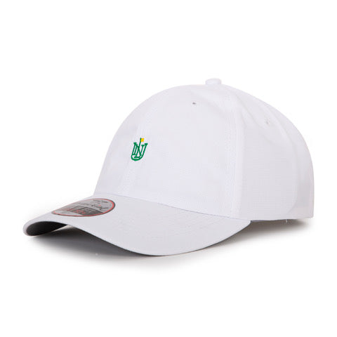 Performance Hat | White w/ Green and Yellow Crest Logo