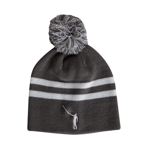 No Laying Up Beanie | Grey & White