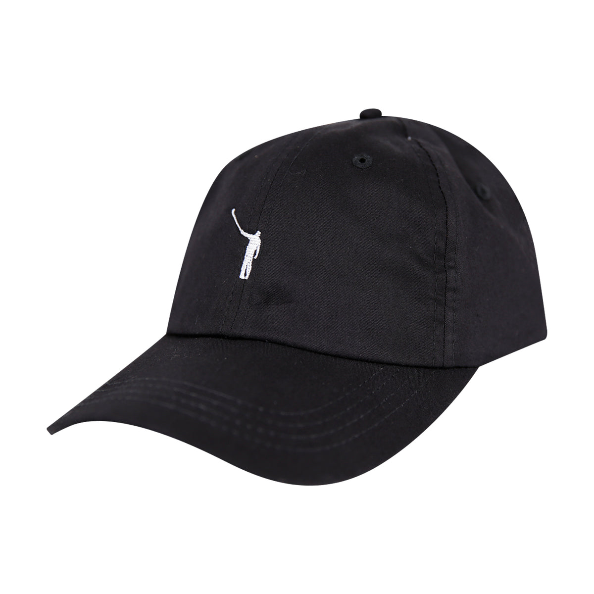 The No Laying Up Cotton Hat | Black w/ White Logo