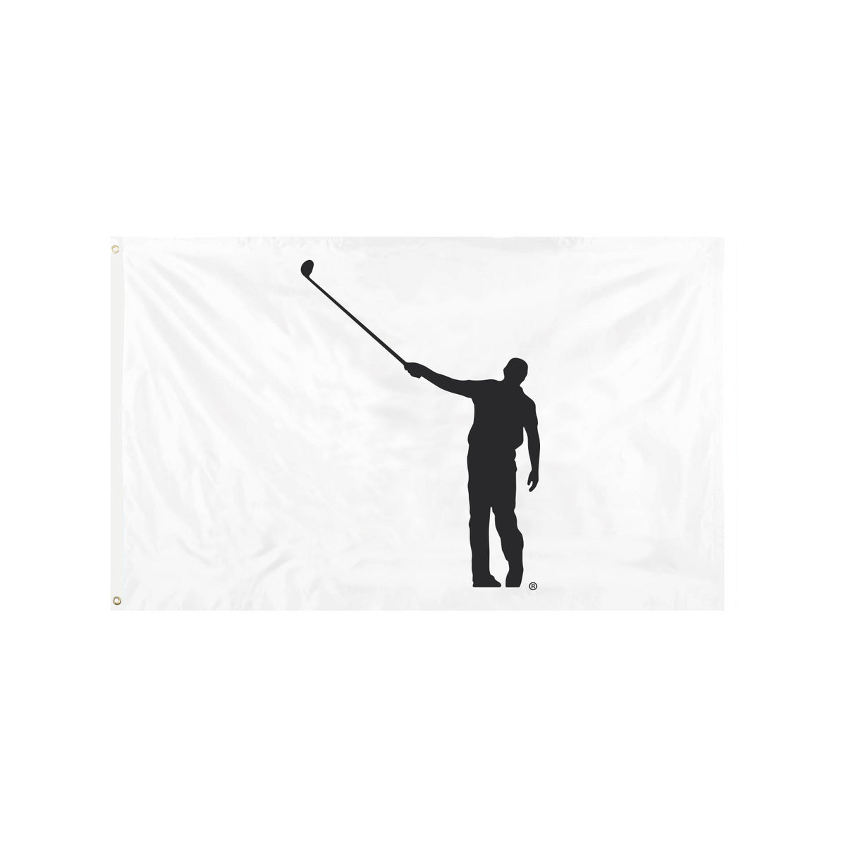 No Laying Up Flag - White & Black