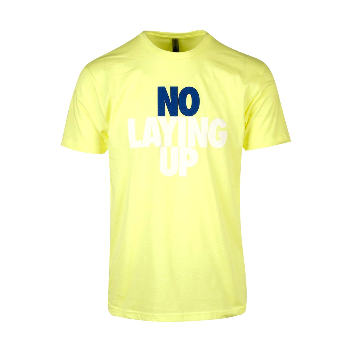 No Laying Up T-Shirt | Neon Yellow - Navy & White Logo