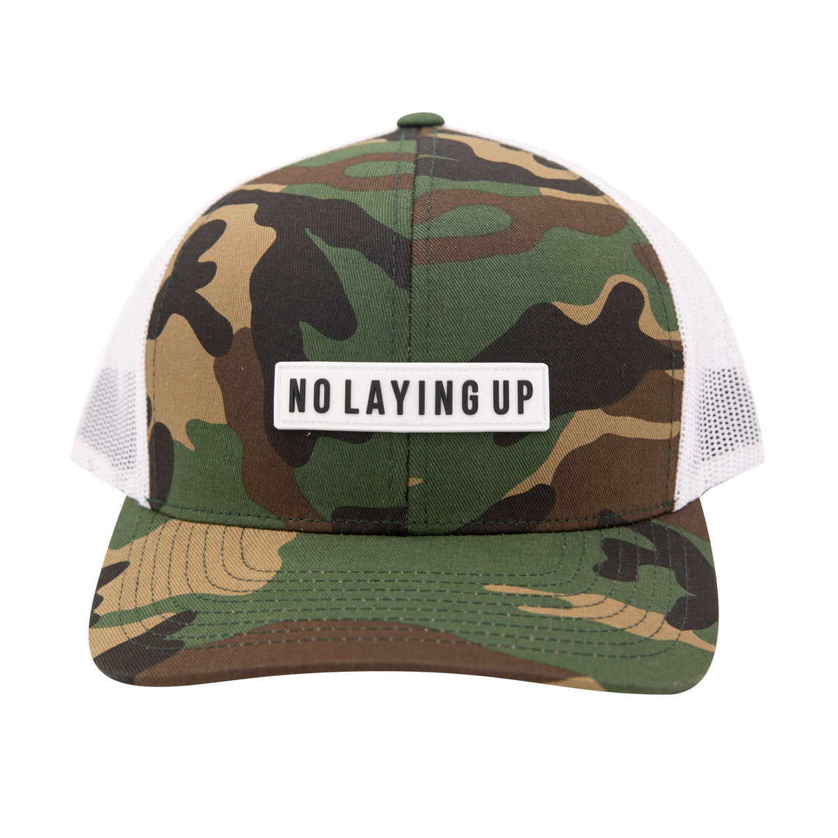 NLU White Patch Hat | Camo & White
