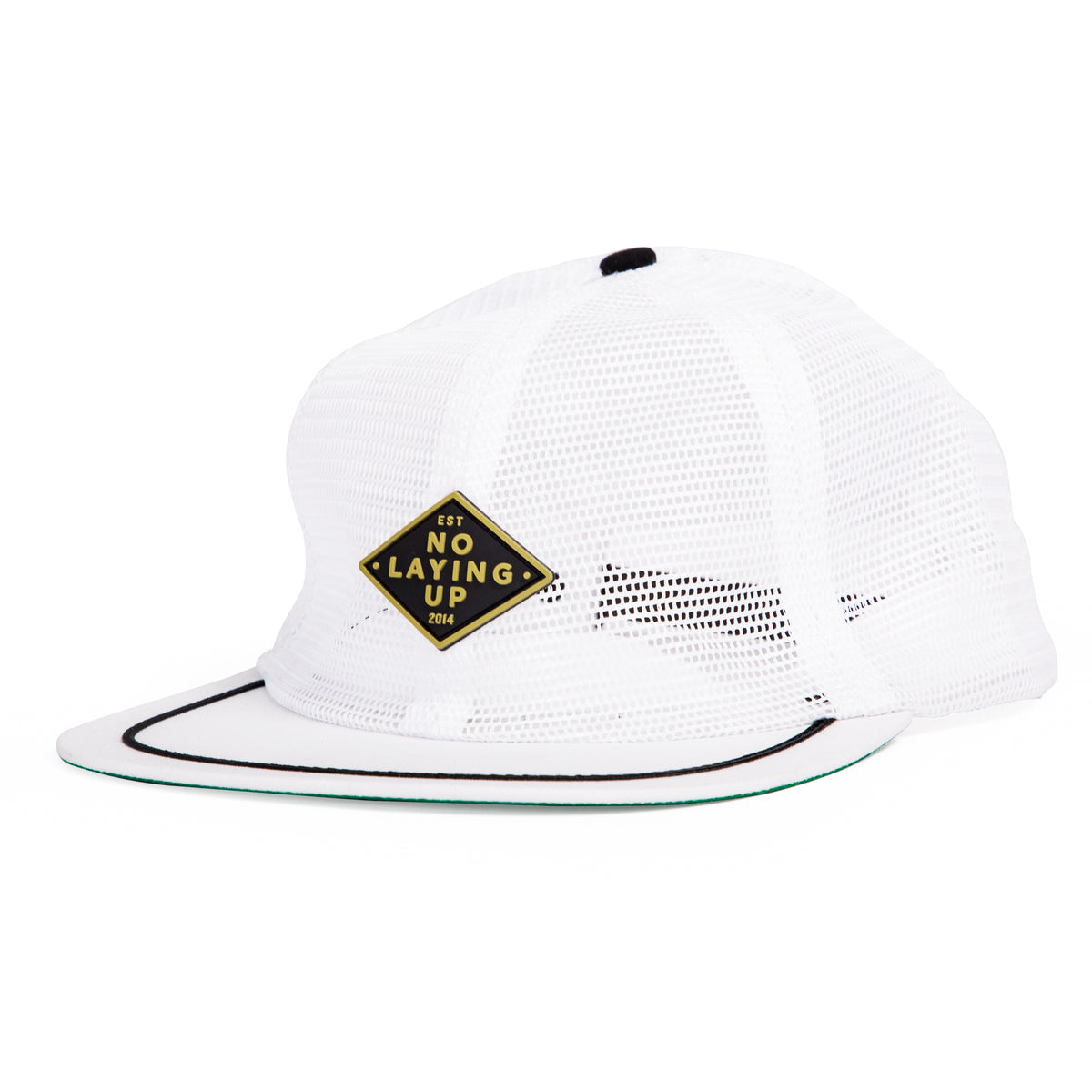 NLU Retro Patch Hat | White Mesh