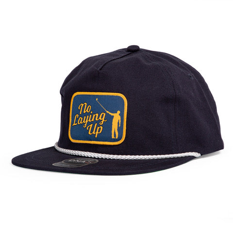 NLU Original Rope Patch Hat | Navy with White Rope