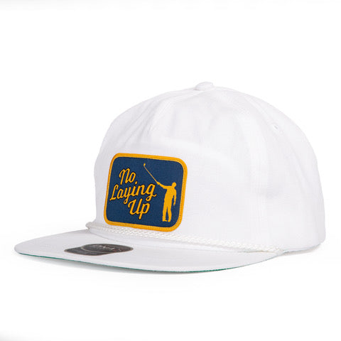 NLU Original Rope Patch Hat | White with White Rope