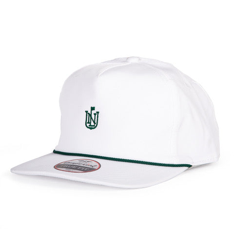 NLU Crest Rope Hat | White with Green Rope