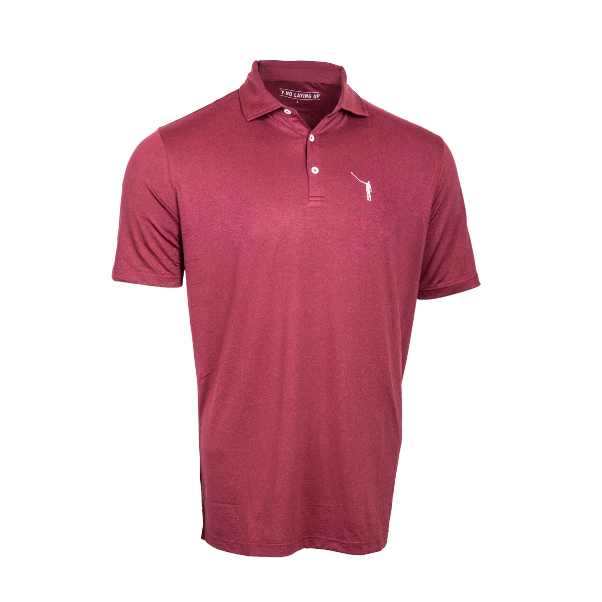 NLU Performance Polo | Heather Crimson
