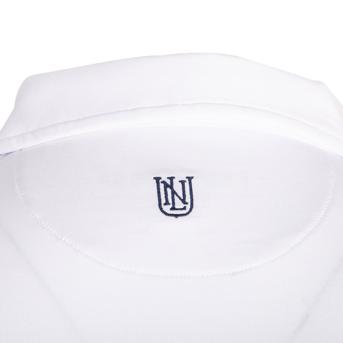 NLU Performance Polo | White w/ Navy Logo