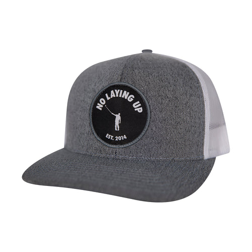 NLU Patch Hat | Mesh Snapback | Grey & White
