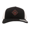 NLU Red Diamond Patch Hat | Black & White