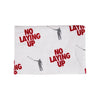 No Laying Up Logo Towel | Red & Grey