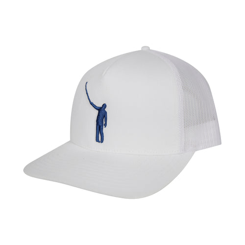 The Wayward Puff Hat | White with Blue Logo
