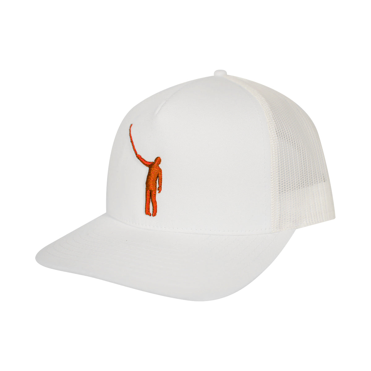 The Wayward Puff Hat | White with Orange Logo