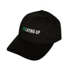 No Laying Up Small-Fit Hat | Black w/ Green & White Logo