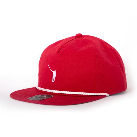 Original Rope Hat | Red w/ White Wayward Logo