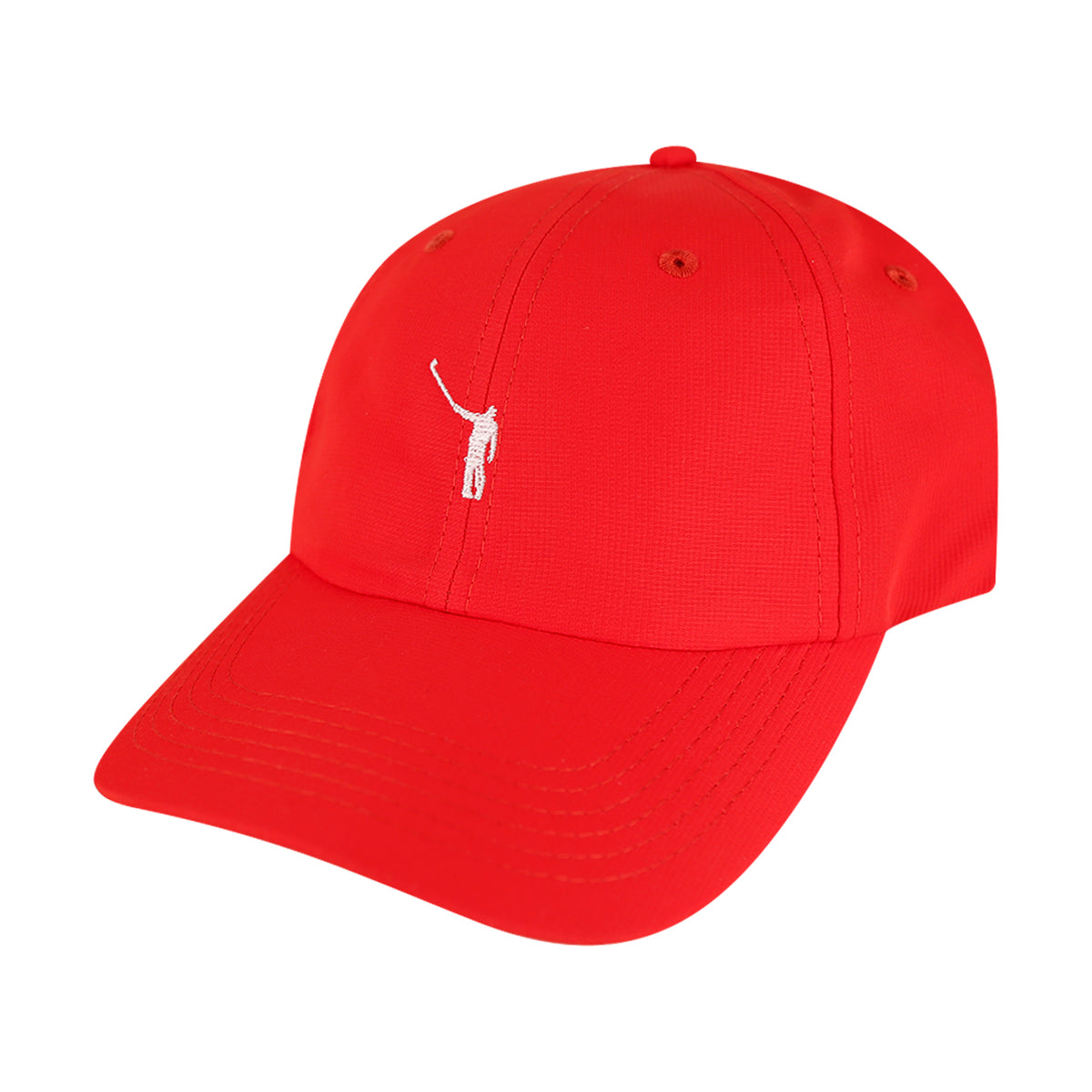 The No Laying Up Hat | Chili Red w/ White Logo
