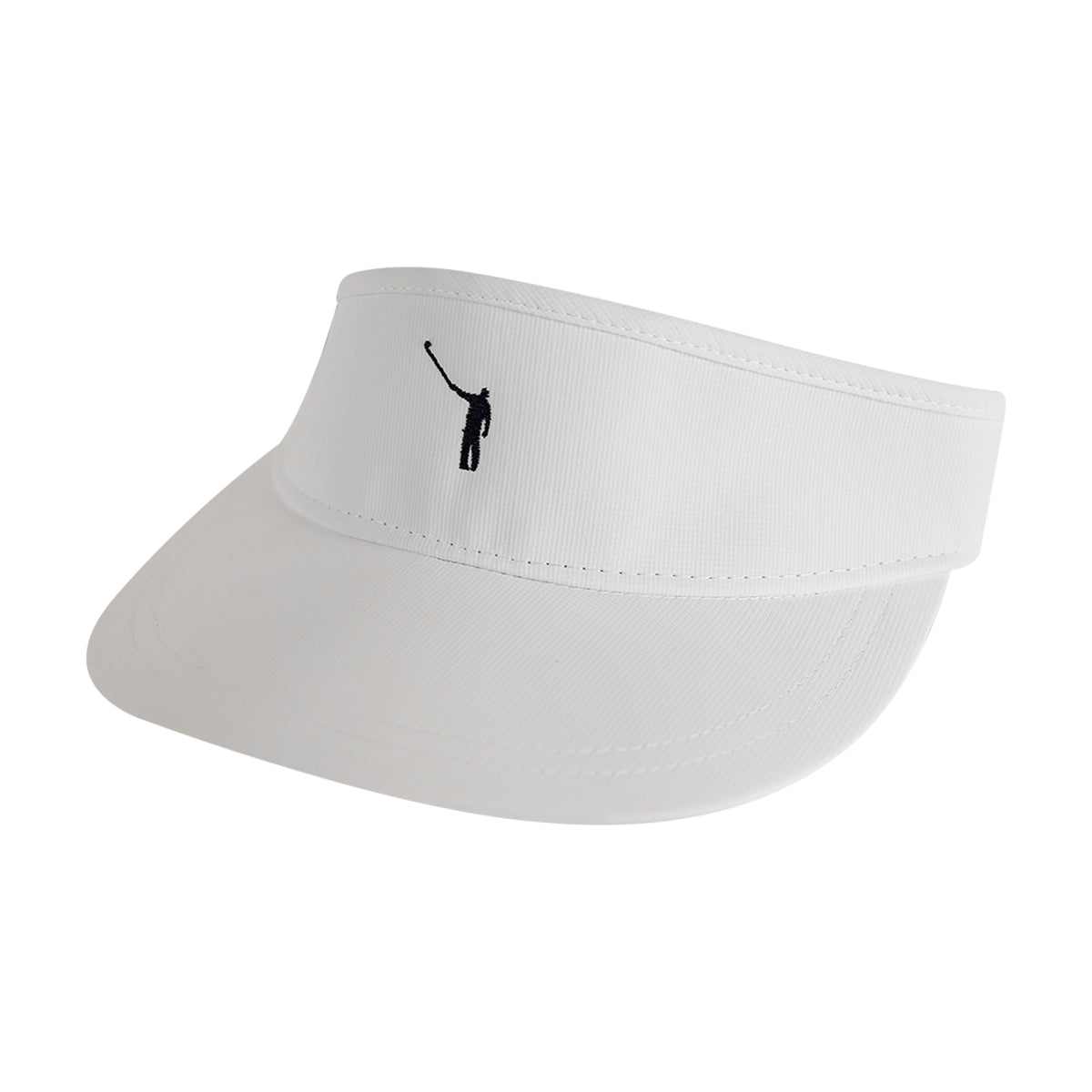 NLU Performance Visor - White w/ Navy Logo