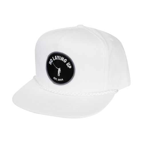 NLU Patch Hat | Retro Rope Hat | White