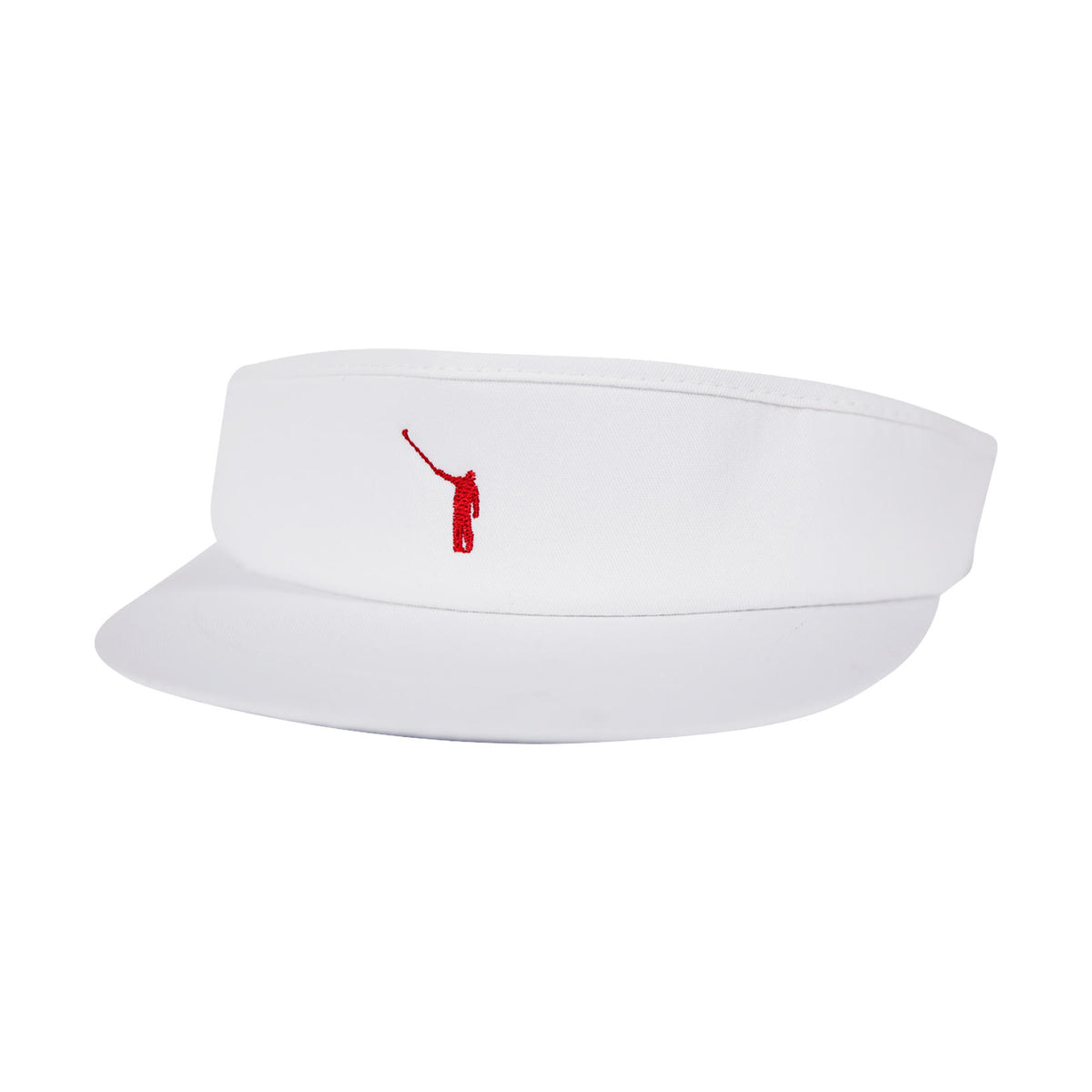 NLU Tour Visor | White w/ Red Logo