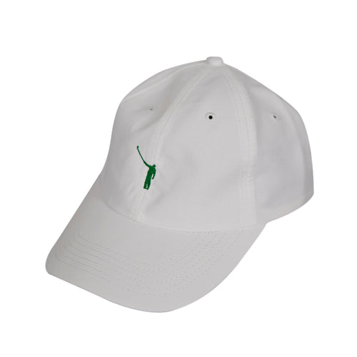 The No Laying Up Hat | White w/ Green Logo