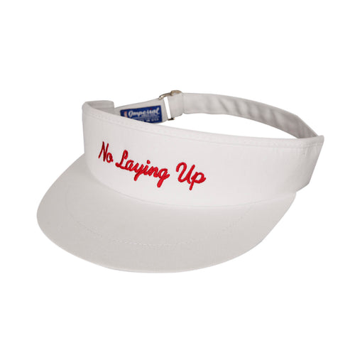 NLU Tour Visor | White w/ Red Script