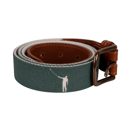 NLU Belt | Green & White