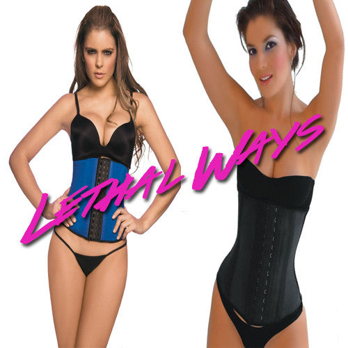 Lethal Ways Latex Waist Cincher Trainer and Workout Waist Trimmer Band - FlyFitRich