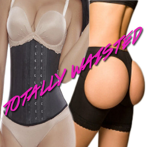 Totally Waisted Latex Waist Trainer Cincher and Butt Lifter - FlyFitRich
