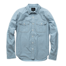 Load image into Gallery viewer, Fields Bleached Chambray Camp Shirt