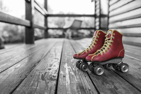 These lovely old-school roller skates look like they could use some leather-care love.