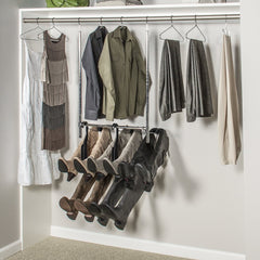 Boot Butler boot rack on a double hung closet rod