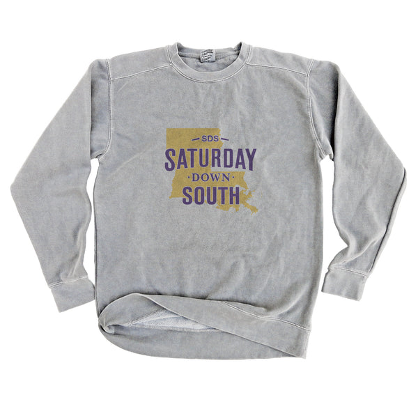 Purple and Gold Collection - Baton Rouge, LA - State of Mind Long Sleeve Comfort Fleece