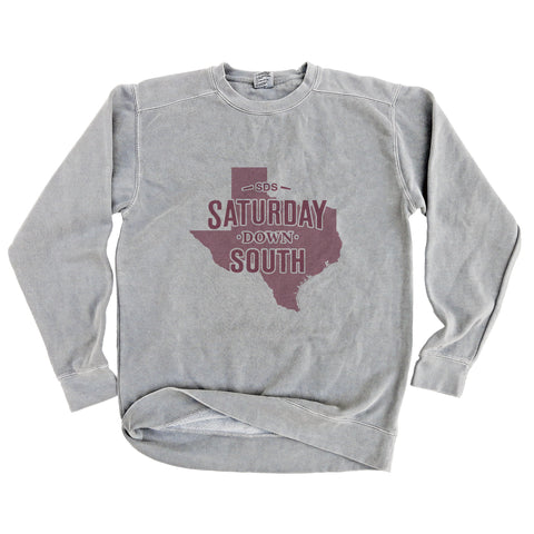 Maroon Collection - College Station, TX - State of Mind Long Sleeve Comfort Fleece