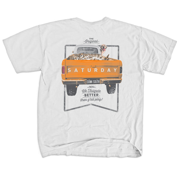Orange and White Collection - Tailgate Yall Short Sleeve Comfort T-shirt