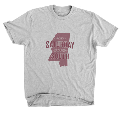 Maroon Collection - Starkville, MS - State of Mind Short Sleeve Vintage T-shirt