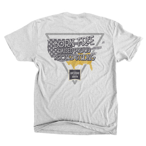 SDS Black & Gold Collection - Free Proud Strong Vintage Tee