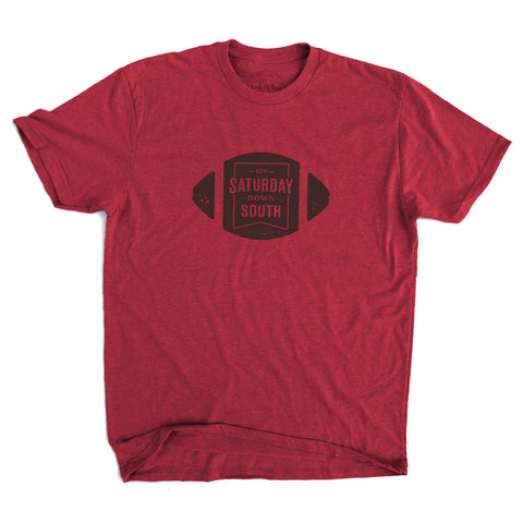 Garnet Collection - Football Badge Short Sleeve Vintage T-shirt