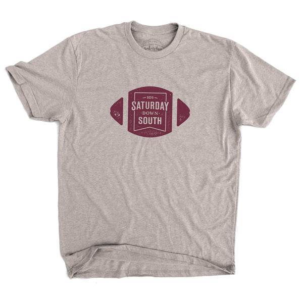 Maroon Collection - Football Badge Short Sleeve Vintage T-shirt