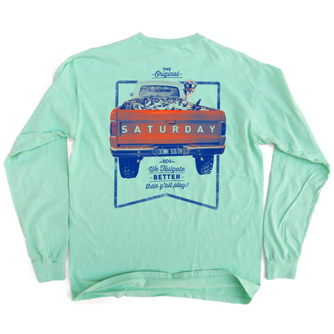 Orange and Blue Collection - Tailgate Yall Long Sleeve Comfort T-shirt