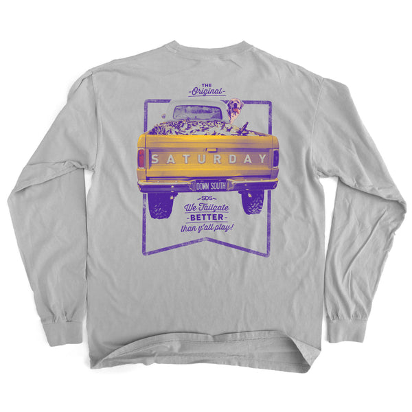 Purple and Gold Collection - Tailgate Yall Long Sleeve Comfort T-shirt
