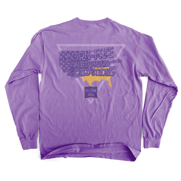 Purple and Gold Collection - South America Long Sleeve Comfort T-shirt