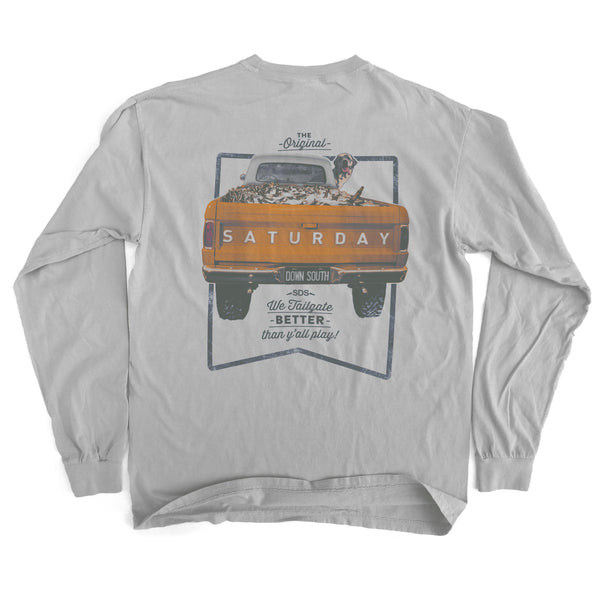 Orange and White Collection - Tailgate Yall Long Sleeve Comfort T-shirt