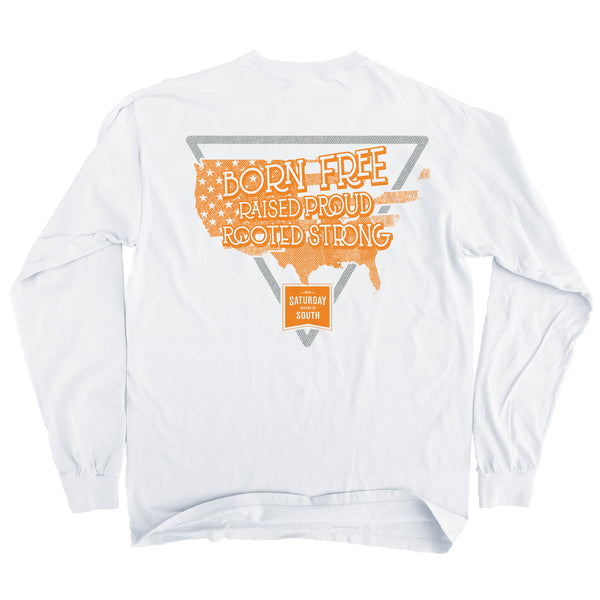 Orange and White Collection - South America Long Sleeve Comfort T-shirt