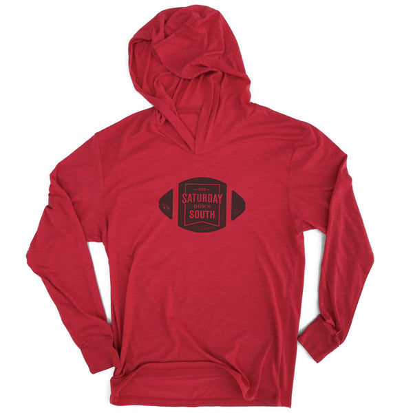 Red Collection - Football Badge Long Sleeve Hoodie T-shirt